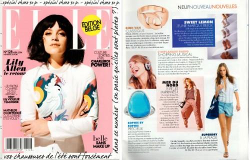 Stone ring in latest ELLE Belgium issue