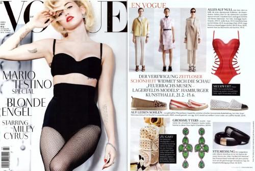Crown earrings in Vogue